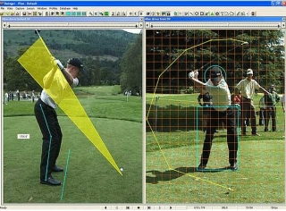 Golfles met video